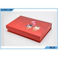 China Gold Silver Jewelry Hard Gift Boxes Magnet Cover Baby Pattern 125g Net Weight on sale
