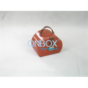 China Luxury Leather Jewelry Boxes / Mirror Travel Makeup Bag Packaging on sale