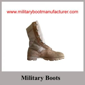 China Wholesale China Made Full Grain Cow Suede Military Desert DMS Boot on sale