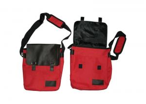 China Red and Black Nylon Promotional Recycled Bags For Messenger , Document on sale
