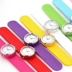 China silicone slap watch on sale