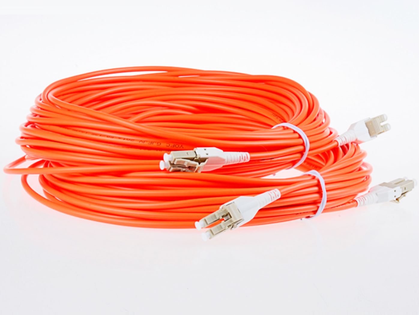 50M Armored Cable Fiber Patch Cord LC to LC UPC Pigtail Multi-Mode Cables Duplex