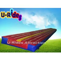 Red Gymnastics Air Track Durable Inflatable Air Tumble Track With CE , UL Certificate