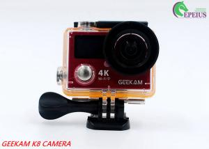 China 14MP Waterproof Action Camera Panasonic CMOS With Aluminium Alloy Front Cover HDMI Wifi on sale