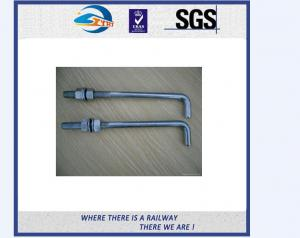 China TS16949 Approved Truck Bolt And Nut / Railway Fastener T Bolts With Gray Phosphating on sale