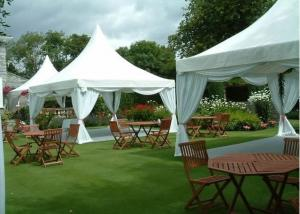 China White Aluminum Pagoda Tent 100 Km / H Max Wind Loading Easy Installation on sale