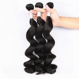 China Unprocessed Virgin Human Hair Bundles Loose Deep Wave Human Hair Weave For Black Woman on sale