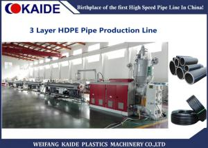 China 20-110mm 3 Layer Co-extrusion HDPE Pipe Production Line/ HDPE Pipe Making Machine KAIDE on sale