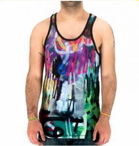 China New Style Fashion Sublimated Dri Fit Shirts , Mens Sleeveless Beach Shirts on sale