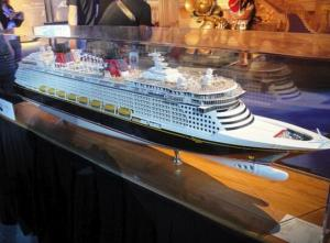 China Simulation Disney Cruise Ship Model , Disney Fantasy Model With Avoid Too Much Humidity on sale