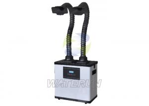 China Long Life Span White Chemical Fume Extractor with Free-standing Ducts / Double Arms on sale