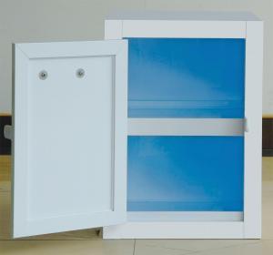 China Adjustable Legs Polypropylene Storage Cabinets Anti - Shock White PP Board Body on sale