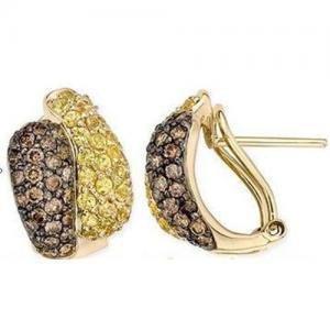 China Yellow Sapphire & Brown Diamond  Yellow Gold -EVIE0239 on sale