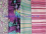 Weft Cotton Poplin Elastic Stretch Fabric  Reactive Print  for Shirt and Dresses