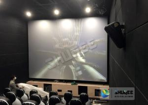 China Unique Electric Motion 4D Cinema Seats With Curve And Ring Screen / 4D Movie Ride on sale