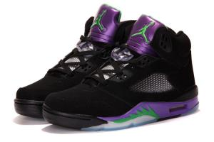 China Air Jordan 5 Retro Black/New Emerald - Grape Ice - Black top quality on sale