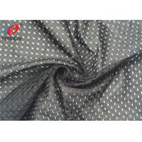 Warp Knitted Big Hole Sports Mesh Fabric , Polyester Jersey Net Material Breathable Fabric