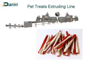 China Beef Natural Sticks Dog Food Making Machine Dental Treats Product Single Screw Extruder Line on sale