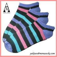 Colourful Striped Low Cut Cotton Ankle Socks