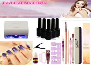 China Fast Drying 9W LED Nail Lamp Kits White Color 6pcs 3 In 1 UV Gel Nail Sets on sale