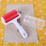Washable Lint Roller, Small Dust Remover, Red Reusable Cleaner