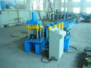 China Blue 220mm Profile Width Roll Forming Machinery For Door Frame on sale