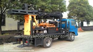 China 200m Depth 10.5 - 24.6bar KW20 Truck Mounted Water Well Drilling Rigs CE on sale