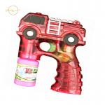 LED Kids Light Up Toys Bubble Gun Fire Truck Design For Outdoor Sand Beach
