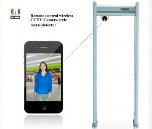 China Multi Zone Security Walk Through Metal Detector Gate With CCTV Camera Battery on sale