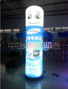 China CE / UL Blower Inflatable Human Carton Balloon / LED lighting giant advertising balloon on sale