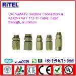 CATV/SATV high quality 2-piece Hardline Feedthru Connector & Adaptor for TVC,COMCAST and PPC