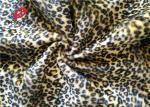 Leopard Printed 100% Polyester Velvet Fabric , Crushed Upholstery Velvet Fabric