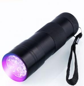 China 9 LED Ultraviolet UV Flashlight /UV torch flashlight/UV torch light with 3AAA on sale