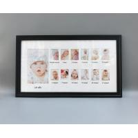 China Baby 12 month photo frame, One year old baby record frame, 25x45cm mat frame on sale