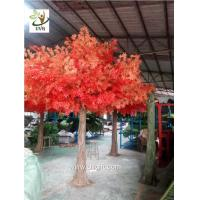 China UVG GRE049 decorative autumn artificial red maple tree for home garden decoration on sale