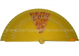 China Hollowed-out Ribs Of Decorative Wooden Hand Fan Party Favorite , Wedding / Party Hand Fan on sale