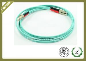 China Duplex OM3 LC To LC Multimode Fiber Optic Patch Cable Jumper For Telecommunications on sale