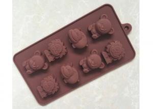 China Customer Silicone Chocolate Molds , Silicone Dessert Molds With Lion / Hippo / Bear Shape on sale