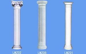China Exterior Fiberglass Decorative Roman Columns Corrosion Resistance on sale
