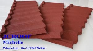 China Colour Coated Steel Roofing Sheets , Alu-Zinc Steel Sheet  Villa Building Materials on sale