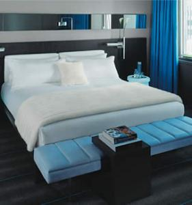 China Luxury leather bed hotel bed on sale
