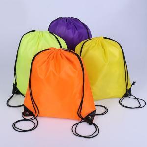 China Custom logo 210D polyester lady fashion bags shoulder sport bag drawstring bags on sale