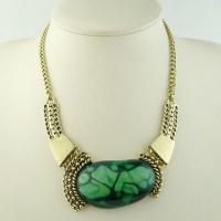 Eye catchingTransparent Epoxy Resin Pendant, Women Summer Bib Necklace Jewelry for engagement