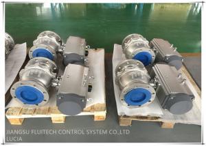 China Double Flange Ball Valve Compact Pneumatic Actuator , Quarter Turn Actuator on sale
