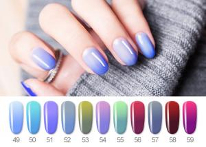 China Healthy Resin Materials Color Changing Gel Polish / Uv Gel Nail Paint on sale