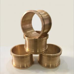 China CNC Precision Machining Copper Flange Sleeve Bushing Oil Groove Costom Size on sale