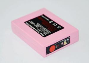 China portable heated socks battery 3.7v 3000mah 3-step temperature steps in pink color on sale