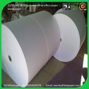 China offset paper for A4 offset paper in roll for sell on sale