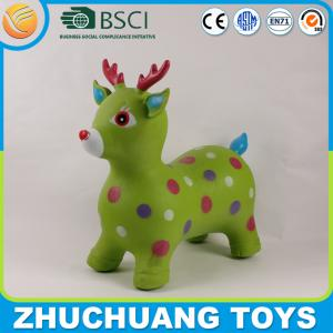 China pvc inflatable jumping animals pink deer on sale