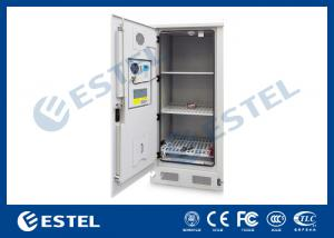China Stainless steel Temperature Control Outdoor Battery Cabinet With 3 Layer Battery For Telecom Station on sale